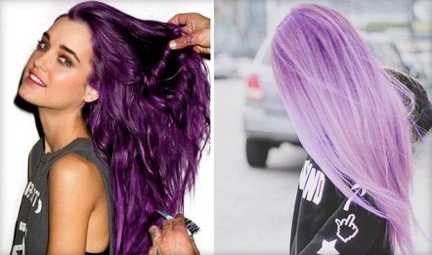тренды 2019 2020 волосы: сиреневые