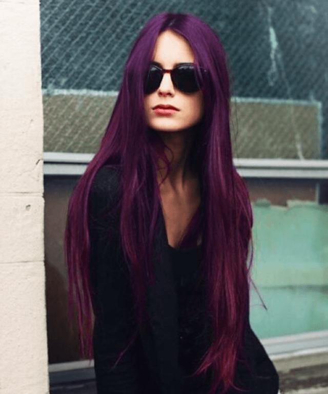 тренд цвета волос 2019 2020: аметистовые