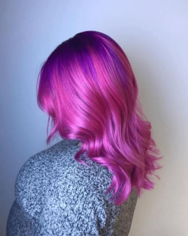 тренд цвета волос 2019 2020: пурпурные