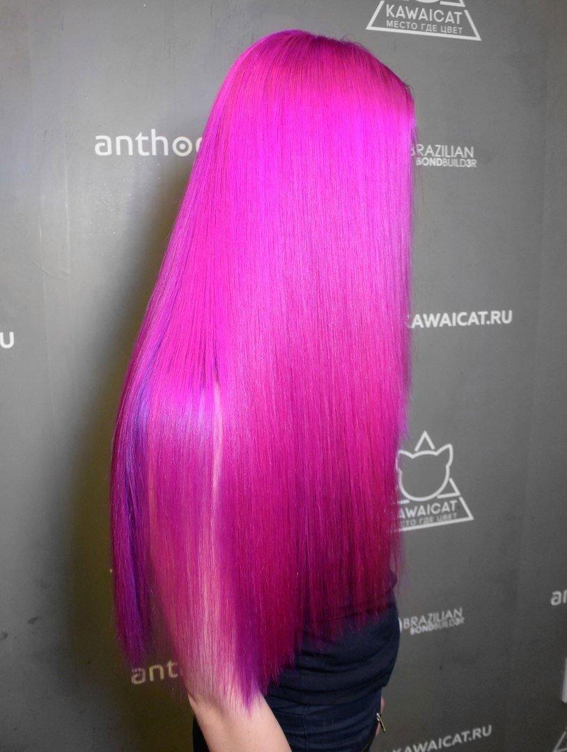 тренд цвета волос 2018 2019: пурпурные яркие