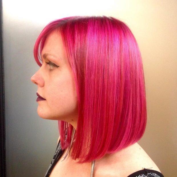 тренд цвета волос 2019 2020: яркие пурпурные