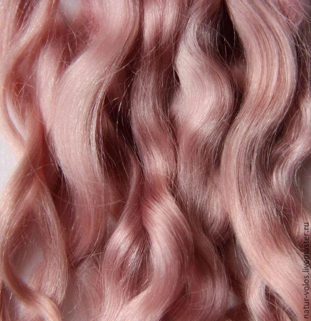 тренд цвета волос 2019 2020: пыльный розовый