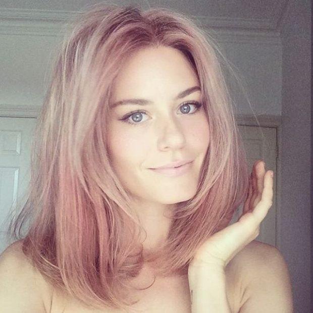 тренд цвета волос 2019 2020: розовое золото