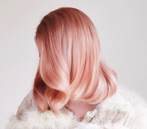 тренд цвета волос 2019 2020: окрас розовое золото