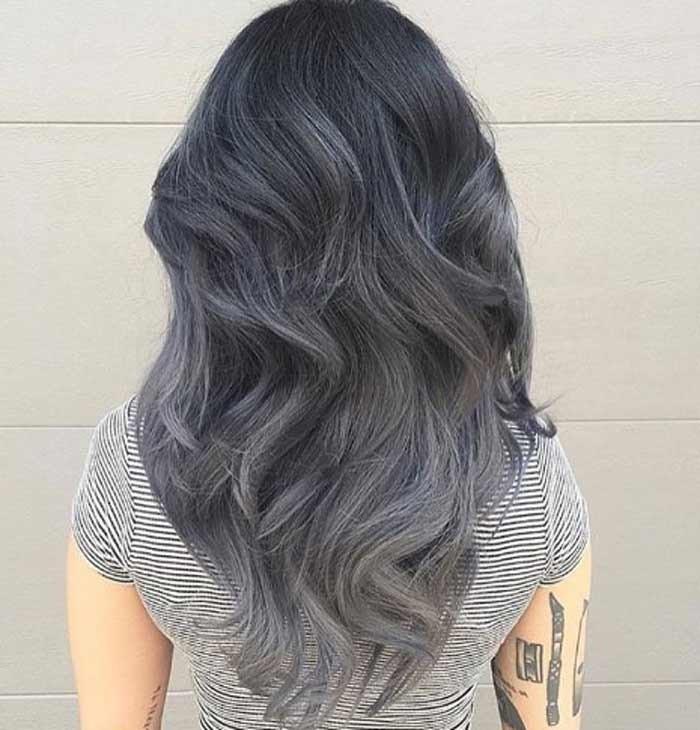 тренд цвета волос 2019 2020: серые