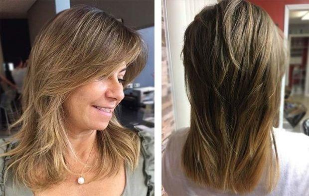 стрижка рапсодия на среднюю длину волос