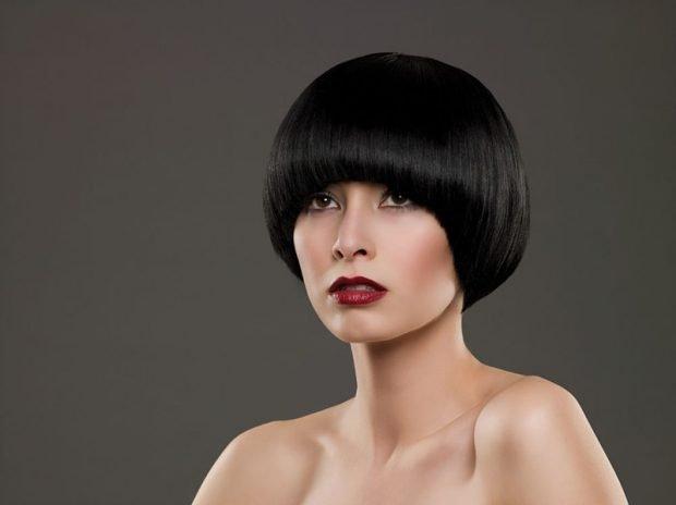 паж на короткие волосы классический вариант
