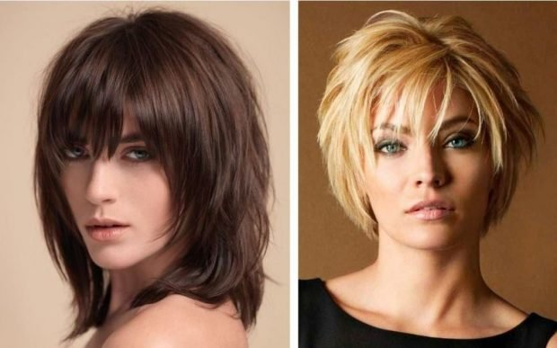 Стрижки 2019 2020: аврора на среднюю длину волос на короткую с челкой