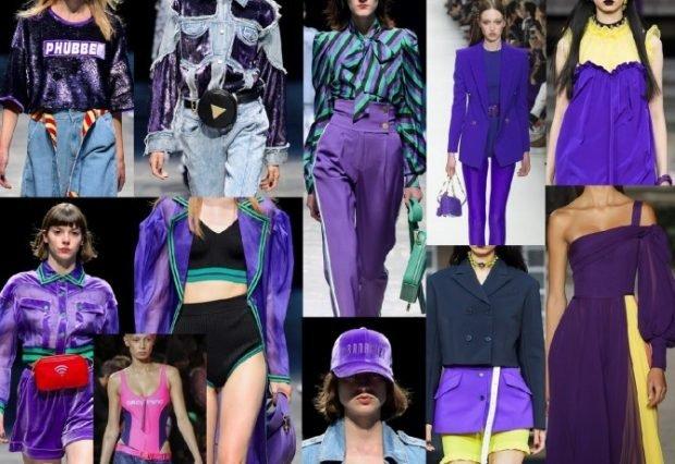 цвета весна лето 2020: фиолетовый