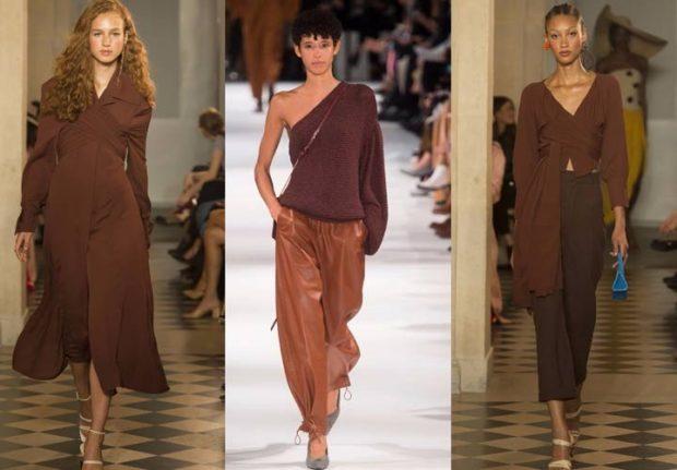 Модные цвета весна лето 2019: коричневый