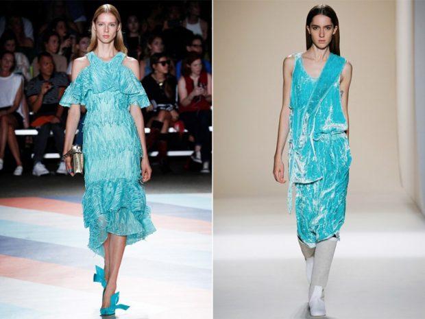 Платье голубого цвета