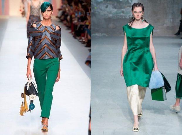 Модные цвета весна лето 2020: зеленый