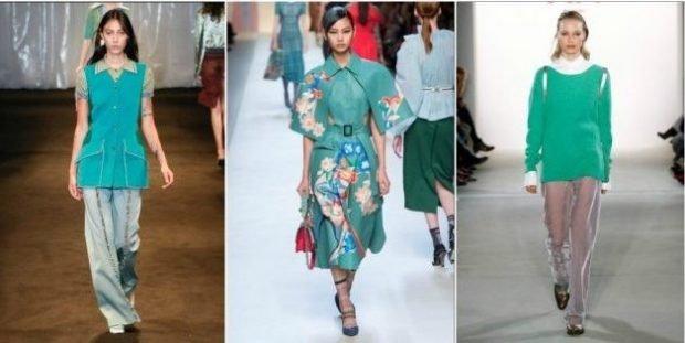 Модные цвета весна лето 2020: бирюзовый