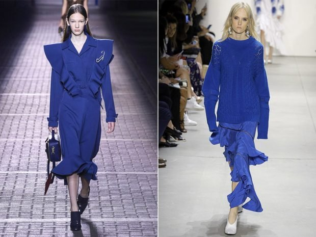 платье пантон моряцкий синий