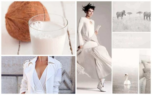 Платье пантон кокосовое молоко