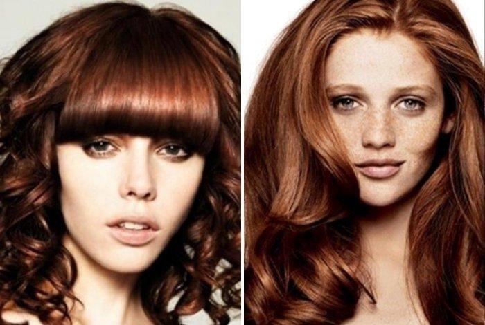 бронзовые тона волос