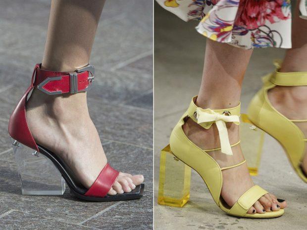 босоножки на прозрачном каблуке