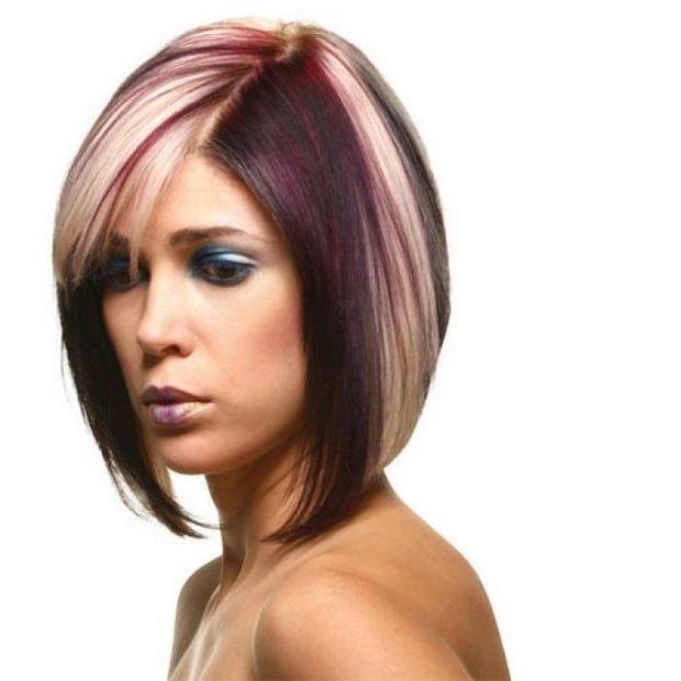 Стрижка дебют на средний волос