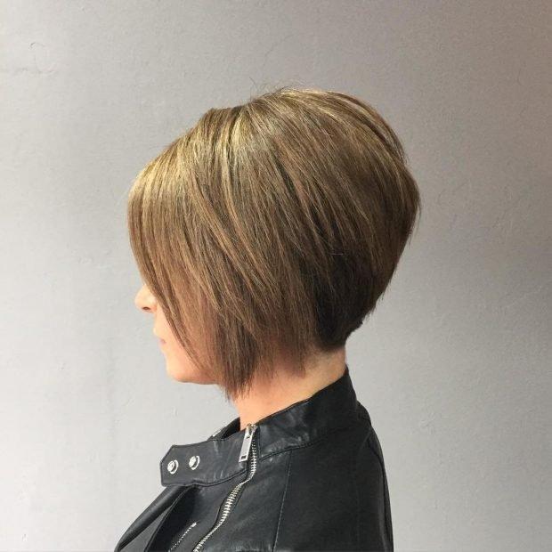 стрижка боб на русые волосы