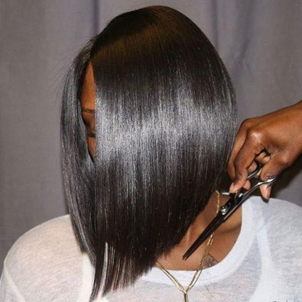 стрижка боб на черный волос