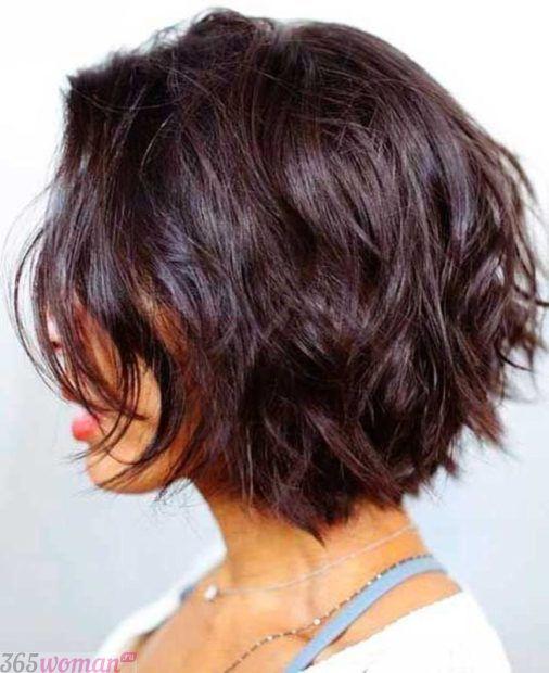 стрижка боб на средний волос