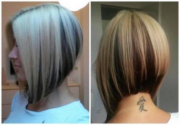 стрижка боб на мелированный волос