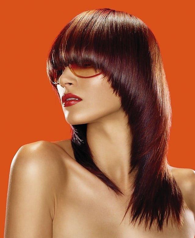стрижка сессон на длинный волос