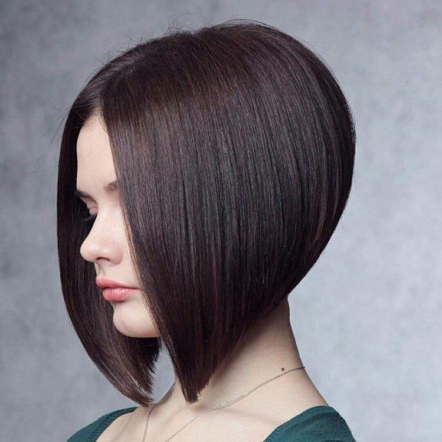 боб-каре на короткие темные волосы