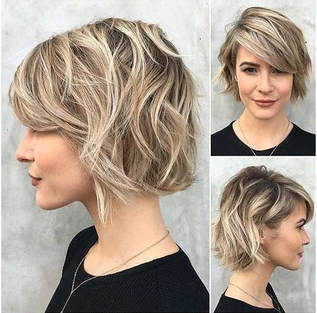 рваные стрижки на средний волос