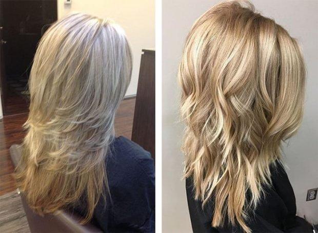 стрижка аврора на длинный волос